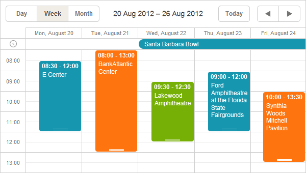 DHTMLX Scheduler .NET calendar control - Visual Studio Marketplace